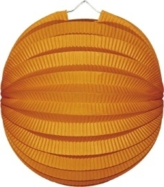 Oranje lampion rond 23cm