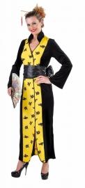 Kimono Chinees geel/zwart