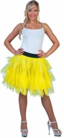 Fancy tule rok fluor geel