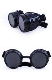 Steampunk bril zwart