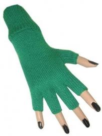 Groene Vingerloze handschoen