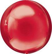 Folieballon Orbz rood (40cm)