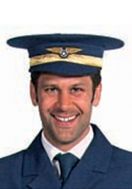Piloten pet blauw