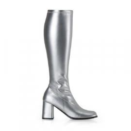 Dameslaarzen retro zilver