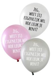 Ballonnen zeg weet jij