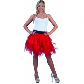 Fancy tule rok rood