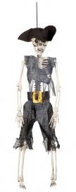 Hangdecoratie skelet piraat 41 cm
