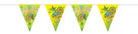 Vlaggenlijn Lentefeest groen/geel/oranje