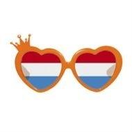 Bril oranje kroon hartmodel