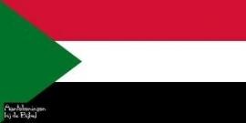 Vlag Soedan 90x150