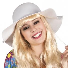 Vintage hoed wit