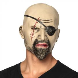 Latex hoofdmasker Piraat