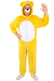 Beer kostuum geel pluche