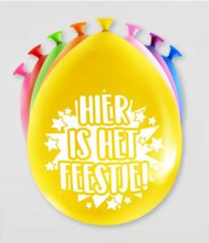 Party Ballonnen - Hier is 't feest