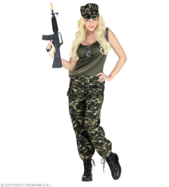 Soldaten kostuum dame