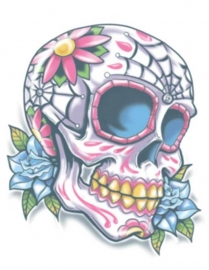 Calavera day of the dead tattoo