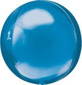 Folieballon Orbz blauw (40cm)
