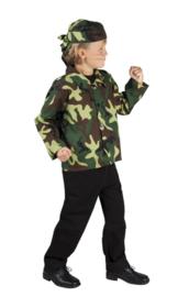 Leger kleding set jongen
