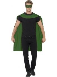 Groene helden cape en masker