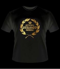 Geslaagd T- shirt goud