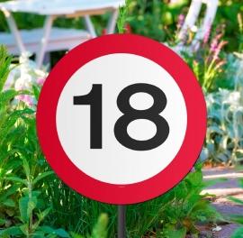 Tuinbord verkeersbord 18