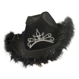 Toppers hoed cowboy zwart