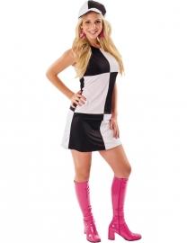 Disco jurkje zwart wit