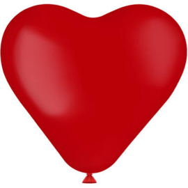 Hartvormige Ballonnen Ruby Red - 8 stuks
