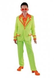 Kinder disco pak fluor groen