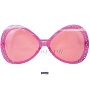 Roze bril met strass