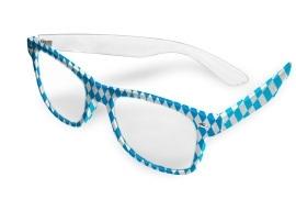Oktoberfest bril blauw/wit