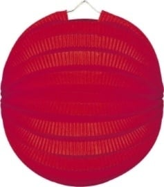 Rode lampion rond 23cm