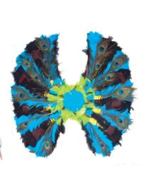 Pauw vleugels veren