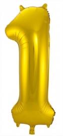 Folieballon 1 goud excl.