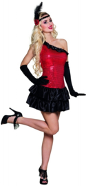 Flapper jurkje rubie