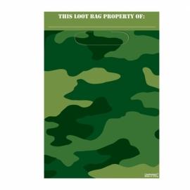 Camouflage print uitdeelzakjes
