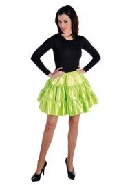 Plooi rok fluor groen modern