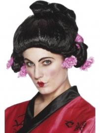 Geisha pruik deluxe