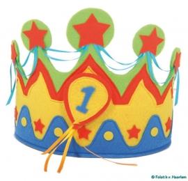 2- jaar koning(in) muts (vilt)