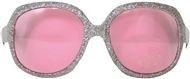 Zilveren grote glitter bril