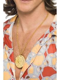 Gouden ketting medaillon