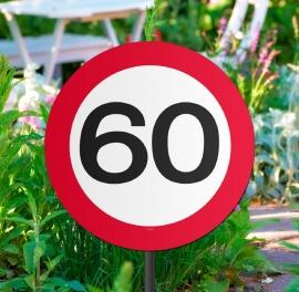 Tuinbord verkeersbord 60