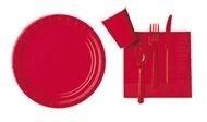 Rode feest servetten