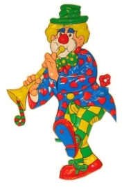 Decoratie clown Trompet