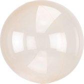 Folieballon Clearz oranje (40cm)