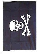 Vlag doodskop 90x60