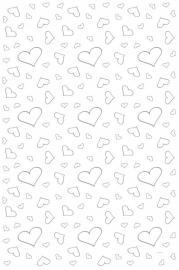 Wit met zilveren hartjes loper