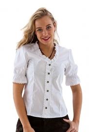 Trachten blouse wit