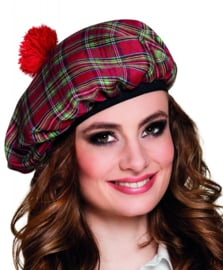 Schotse baret dames rood
