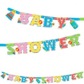 Babyshower letterslinger multi color